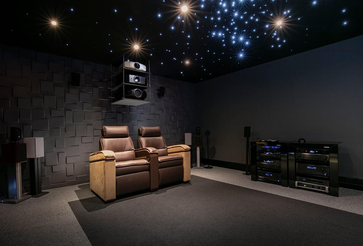 Ciel étoilé sur plafond tendu acoustique son-video.com